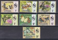 Malaysia Negeri Sembilan 1971 serie corrente Farfalle 80-86 MHN