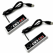 2x USB PC Game Pad Joystick Nes Nintendo Style Controller Joypad For Any PC-Mac