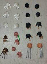 Mezco One12  HANDS Lot PX Magneto Wolverine Spider-Man Freddy Kruger