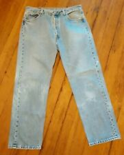 Vintage LEVI's 501 Jeans 34 x 29 Actual (36 x 30 Tag) Faded Grunge USA Made 90's