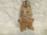 "Antique Cat Stuffed Animal - 9"" total length"