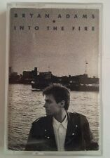 BRYAN ADAMS - Into the Fire album on Cassette Tape. A&M 1987. VGC. FREE UK P&P.