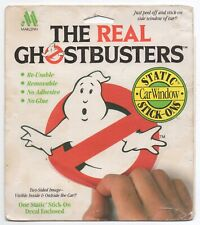 The Real Ghostbusters Logo 1986 Static Stick-on Car Window Auto Sticker, As Seen