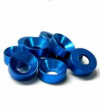 L1430 M3 3mm Countersunk Washer Alloy Aluminium Light Blue x 10