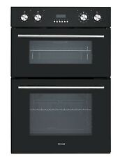 MILLAR DEO603601BG Built-in Electric  Double Oven with LED Display - Black Glass