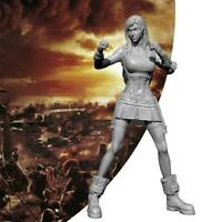 1/24 Girl Fighting King Modern Female Solider Unpainted Resin Model New