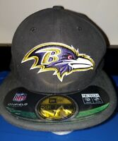 NFL Baltimore Ravens on-field New Era 7 and 3/4 fitted hat cap