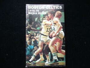 1975-76 Boston Celtics NBA Basketball Media Guide