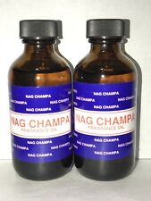 2 Bottle NAG CHAMPA PREMIUM FRAGRANCE HOME BURNER ESSENTIAL OIL 60ML/2OZ BIG NEW