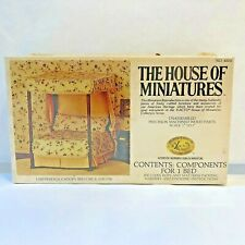 X-ACTO HOUSE OF MINIATURES Wood Doll House Chippendale Canopy Bed Kit #40014