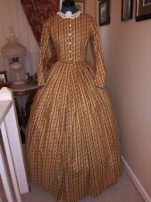 Civil War Reenactment Day Dress Size 12 Gold Stripe