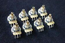 8 X CTS B500K/Regular B Type(Linear Taper) Brass Shaft Linear pots