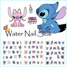 3D Lilo & Stitch Disney Nail Art Wraps Water Transfers Decals Salon Quality