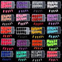 100 PCS Colorful False Acrylic UV Gel Half French Nail Art Tips Salon 9 Color AU