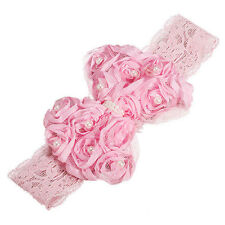 1pc Pink Lace Flower Infant Headband Baby Hair band Hair Accessory Headband