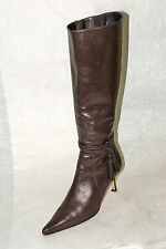 FACONNABLE / ITALY / 'CHARLIZE' / BOOT IN DARK BROWN / SZ: 6.5 M / EXCELLENT
