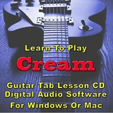 CREAM Guitar Tab Lesson CD Software - 26 Songs