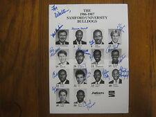1986-87 SAMFORD  Men's Basketball Poster (14 Signed-MEL HANKINSON/REMBERT MARTIN