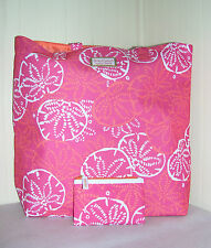 New Estee Lauder Lilly Pulitzer Pink Sand Dollar Summer Tote Bag & Coin Purse