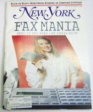 New York Magazine Klein On Bush's Honeymoon November 1988 032913R