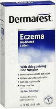 Dermarest ECZEMA Medicated Lotion Hydrocortisone 1% + Zinc 24hr Itch Relief 4oz