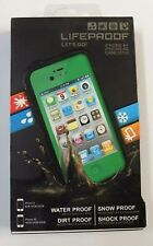 """NEW"" Lifeproof Waterproof Protective Case For Apple iPhone 4+ / 4S Green In Box"