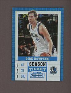 2017 Contenders DP Building Blocks Season Ticket #15 Dirk Nowitzki Mavericks /10
