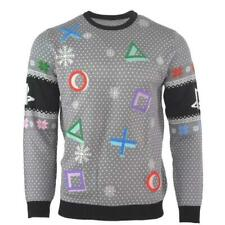 Officiel Numskull Playstation symboles Noël Pull gris-UK L/USA M neuf