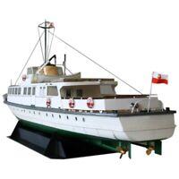 DIY Paper Model 1:100 Polish Coast Ferry Ship Assemble Hand Work 3D Puzzle  S2V8