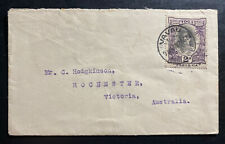 1928 Vavau Tonga Toga Cover to Rochester Victoria Australia