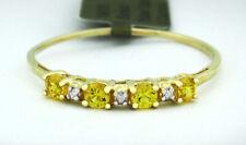 GENUINE YELLOW TOPAZ & DIAMONDS RING 10K GOLD * Free Certificate Appraisal *