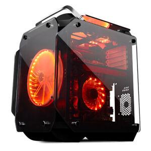Glasseite Tower Gaming Pc Gehäuse ATX Micro-ATX Mini-ITX USB 3.0 w/ 3 RGB-Lüfter