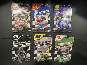 Lot 6 1/64 Diecast Cars Nascar Authentics Chase Elliott Reddick Bubba JR Blaney