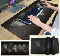 Home Office World Map Large Extended Rubber Speed Gaming Mouse Pad Desk Mat HKI