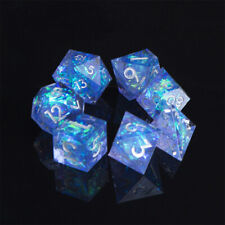 DND Role Playing Game Dice Handcrafted 7-Die Polyhedral Mirror Dice Sets