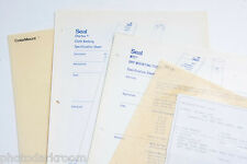 Seal Samples Brochures Sales Ad Pages - Assorted Dry Mount - USED B95