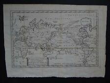 1773 Raynal Atlas World map Planisphere General  America Mer de Ouest 1st State?