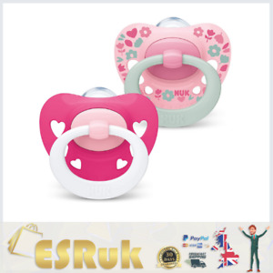 NUK Signature Dummies BPA Free Orthodontic Soothers 6-18 Months (Pack of 2)