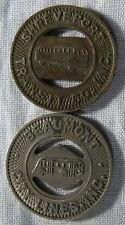 Beaumont Texas and Shreveport Louisiana Transit Tokens Lot  whotoldya 51418