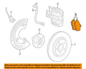 FORD OEM Brake-Rear Pads 5U2Z2V200D
