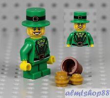LEGO - Leprechaun Minifigure Custom Irish St. Patrick Day Guy Man Gnome Series 6