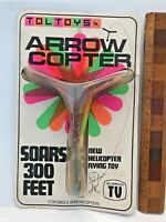 1970s VINTAGE TOLTOYS ARROW COPTER SLINGSHOT TOY! IN BOX! AS SEEN ON TV!! EXC!!!