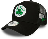 Boston Celtics New Era Dark Base A-Frame Trucker Cap