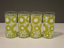 Set of 4 Vintage Libbey? 16 oz Daisy Drinking Glasses Tumblers