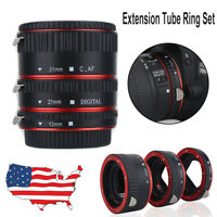 Close-up Shot Macro Lens Extension Tube Adapter Ring For Canon EOS EF Lens