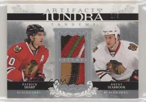2009-10 Artifacts Tundra Tandems Silver /5 Patrick Sharp Brent Seabrook Patch