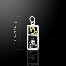 Capricorn Zodiac .925 Sterling Silver Charm by Peter Stone