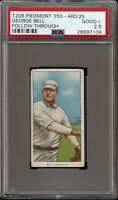 1909-11 T206 George Bell Follow Through Piedmont 350-460 Brooklyn PSA 2.5 GD +