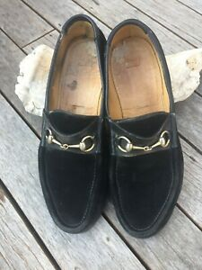 Gucci Loafers - Black Suede - size 11.5 / 45