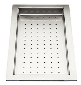 Blanco STAINLESS STEEL PERFORATED TRAY BZDRAINSS 440x240x32mm Protective Cushion